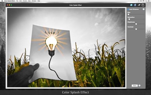 Color Splash Effect Mac版