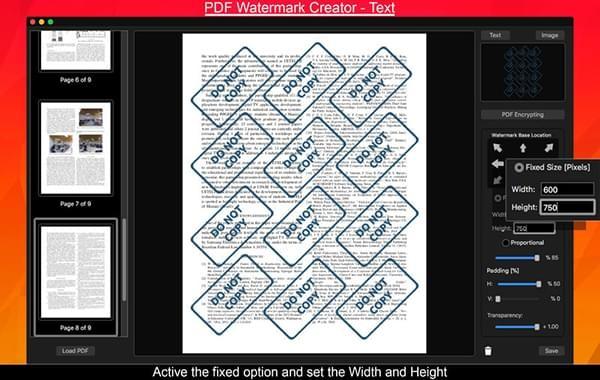PDF Watermark Creator for Mac