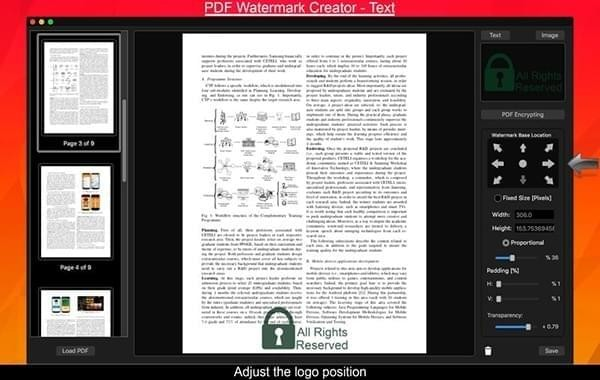 PDF Watermark Creator Mac版
