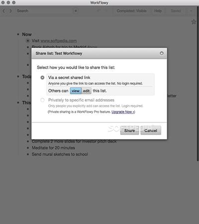 WorkFlowy for Mac