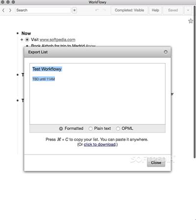 WorkFlowy Mac版