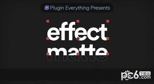 AEscripts Effect Matte(字体蒙板遮罩插件)