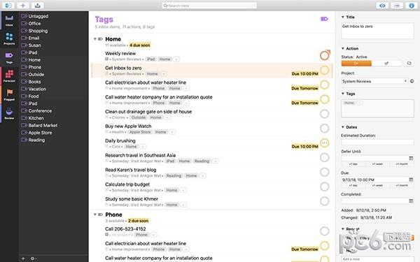 OmniFocus Mac版