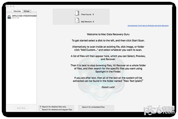 Data Recovery Guru for Mac