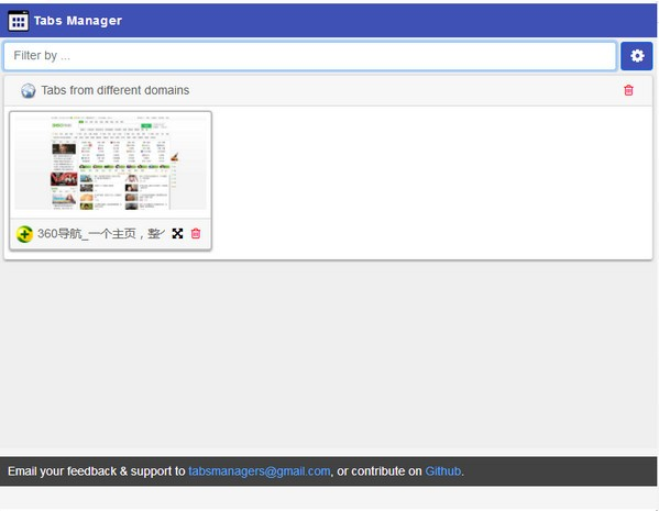 Tabs Manager Chrome插件