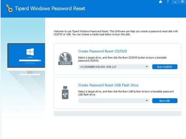 Tipard Windows Password Reset(密�a重置�件)