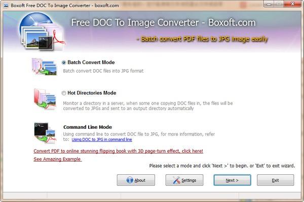 Boxoft Free DOC to Image Converter