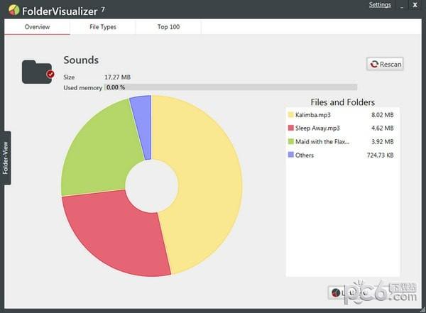 FolderVisualizer(硬盘空间分析工具)