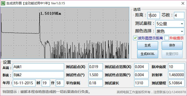 OTDR曲线图生成工具