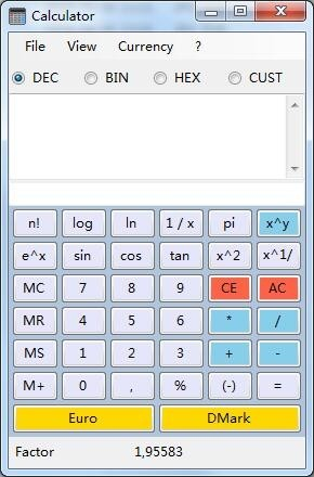 Alternate Calculator(货币换算器)