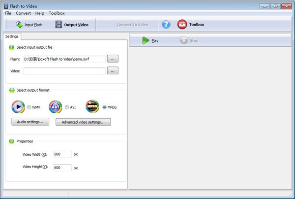 Boxoft Flash to Video(Flash视频转换工具)