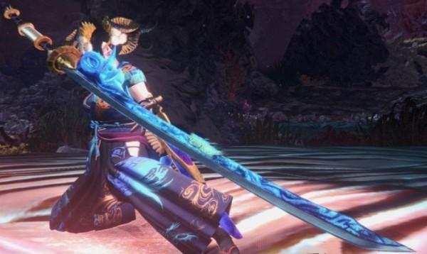 怪物猎人世界蓝焰太刀MOD